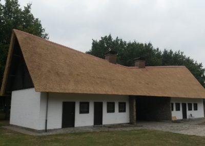Renovatie rieten dak dienstgebouw Kielpark