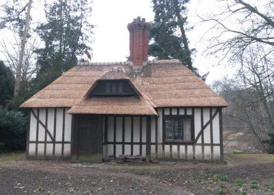 Renovatie rieten dak park Den Brandt