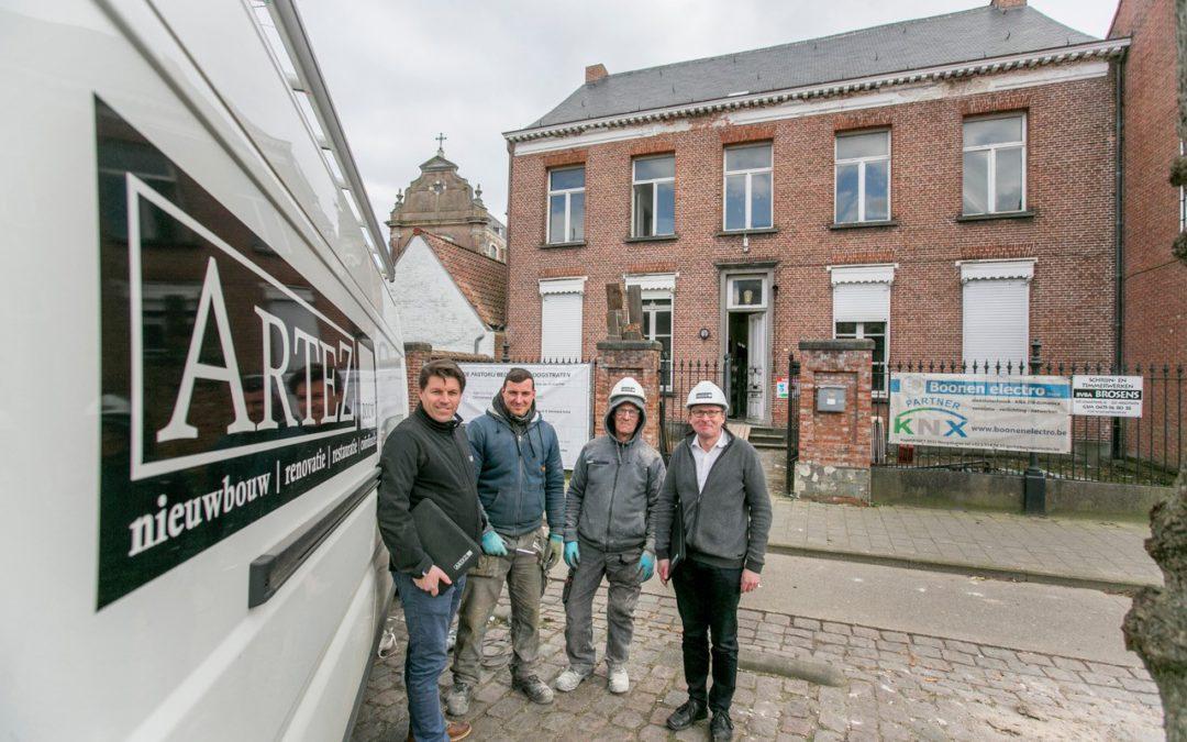 Restauratie pastorij begijnhof Hoogstraten