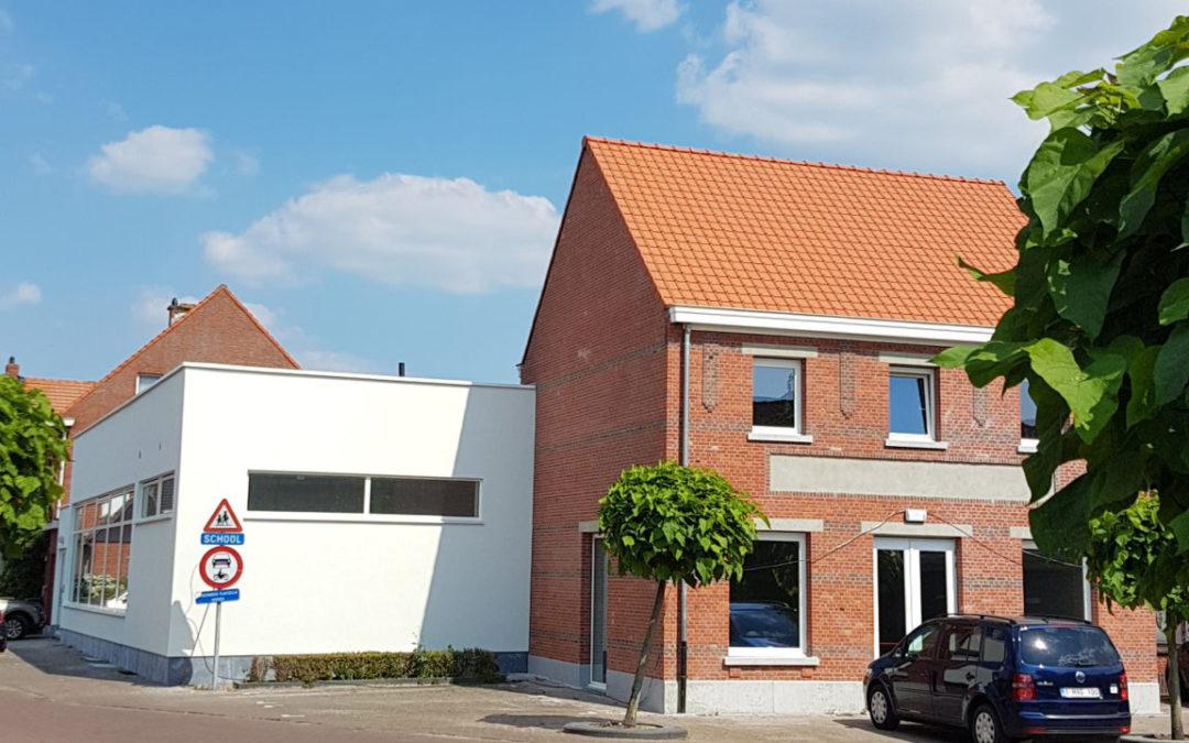 Verbouwing parochiecentrum tot schoolgebouw